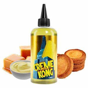 Creme Kong Caramel Retro 200ml – Joe's Juice – Sans tabac ni nicotine – Vente interdite aux personnes âgées au de moins de 18 ans – 0 MG – Genre : 80 ml et +