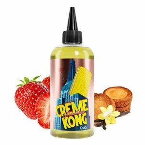 Creme Kong Strawberry Retro 200ml – Joe's Juice – Sans tabac ni nicotine – Vente interdite aux personnes âgées au de moins de 18 ans – 0 MG – Genre : 80 ml et +