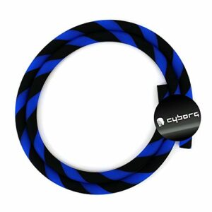 Cyborg Hookah Tuyau en silicone pour narguilé Noir/bleu mat