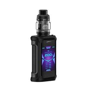 Geekvape Aegis x 200W TC Kit, with Zeus subohm – tank – 2ml as – 2.0 chips Waterproof/Dust/sismique Electronic Smoke Free Liquid, no Nicotine (Black Invisible)
