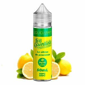Le Citron de Provence 50ml – Les Essentiels – Sans tabac ni nicotine – Vente interdite aux personnes âgées au de moins de 18 ans – 0 MG – Genre : 40-70 ml