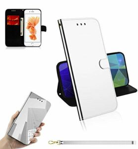 LODROC Coque iPhone 6S / iPhone 6 Coque,Housse en Cuir Premium Flip Case Portefeuille Etui avec Stand Support et Carte Slot pour Apple iPhone 6S / 6 – LOTX0300002 Argent