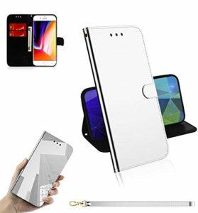 LODROC Coque iPhone 6S Plus/6 Plus Coque,Housse en Cuir Premium Flip Case Portefeuille Etui avec Stand Support et Carte Slot pour Apple iPhone 6SPlus/6Plus – LOTX0300009 Argent