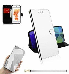 LODROC Coque iPhone 8/7/iPhone Se 2020 Coque,Housse en Cuir Premium Flip Case Portefeuille Etui avec Stand Support et Carte Slot pour Apple iPhone7/iPhone8 – LOTX0300016 Argent
