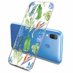 Suhctup Compatible pour Samsung Galaxy A10E Coque Silicone Transparent Ultra Mince Étui avec Clear Mignon Fleurs Motif Design Housse Souple TPU Bumper Anti-Choc Protection Cover,A13