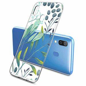 Suhctup Compatible pour Samsung Galaxy Note 5 Coque Silicone Transparent Ultra Mince Étui avec Clear Mignon Fleurs Motif Design Housse Souple TPU Bumper Anti-Choc Protection Cover,A10