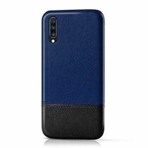 Suhctup Compatible pour Samsung Galaxy S7 Edge Coque Cuir Premium Ultra Mince Multicolore Étui Style de Design Facile Mode Housse Anti-Choc Antidérapant Protection Cover(Bleu Noir)