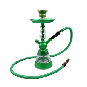 WJMT Portable Shisha Hookah Set 36cm Acrylique Bubble Browa Accessoires avec Boisson d'eau Ceramics, Tuck, BACAGE DE CHARCON ET PLUIES CHARCOAUX (Color : Green)