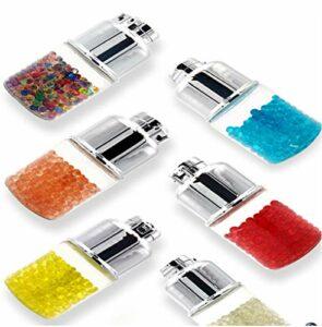 100 types de capsules et de distributeurs au goût de sprite, filtres à cigarettes menthol, capsules de perles à faire soi-même, capsules de goût avec filtres à cigarettes à clic (500 capsules).