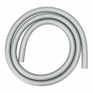 AO® Tuyau en silicone pour narguilé Soft Touch style carbone | Super flexible (Argent)