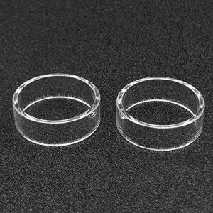 Denghui-ec 2pcs Remplacement Clear Pyrex Tube Glasse FIT pour DVARW MTL FL 22MM 3.5ML RTA