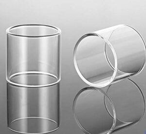 Denghui-ec 2pcs Remplacement Effacer Pyrex Glass Tube Fit pour Footoon Master Aqua Master RTA Tank 2.6ml