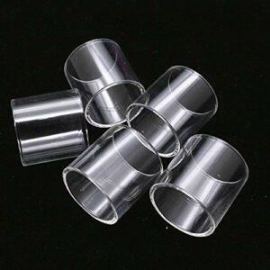 Denghui-ec 5pcs Remplacement Clear Pyrex Tube Glasse FIT pour TFV8 X Baby 2ML