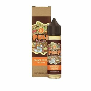 E-liquide Orange Epicée Pulp Kitchen – 50 ml – 0mg – Sans nicotine et sans tabac.