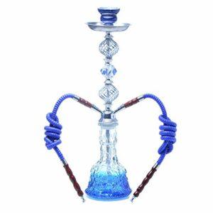 Ensemble de Tuyau Double de narguilé Arabe, Tuyau d'eau de narguilé Portable avec Bol en céramique, Ensemble de narguilé créatif fumable pour la fête du Bar du Club