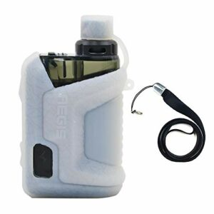Étui de protection pour cigarette électronique Geekvape aegis Hero kit étui pour appareil étui en silicone couverture bouclier enveloppe peau Skin avec lanière (Transparent)