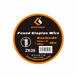 Geekvape Bobine de fil de chauffage pour cigarette électronique Kanthal A1 de 3 m (24 ga*2+32 ga)