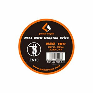 Geekvape Nichrome Ni80 MTL Bobine de fil pour cigarette électronique 3 m