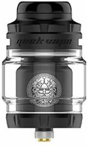 Geekvape Zeus X Mesh RTA 25 mm 4,5 ml réservoir étanche système de flux d'air supérieur atomiseur avec maille modulaire Build Deck (Black)