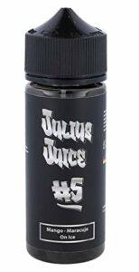 Julius Juice Concentré d'arôme BiB 10 ml dans une bouteille de 120 ml de maracuja, mangue et koolada sans nicotine.