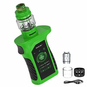 Kit d'origine Mag P3 230W Vape (vert noir), réservoir 9 ml TFV-Mini V2, écran tactile 2″ Temp Control E Cigarettes, Ecig alimenté par deux piles 18650, sans nicotine