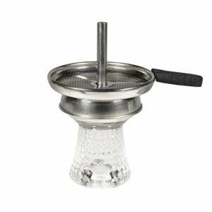 Kit Foyer chicha en verre avec cheminée | Tête de chicha verre + porte charbon cheminée + tamis pour tabac