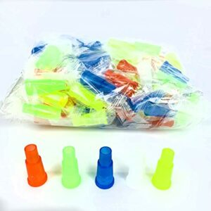 MAKEMONEYANDLOVE Titulaire de Cigarettes Arabes en Plastique jetables pour narguilé/Shisha – Pack de 50,Multi Colored
