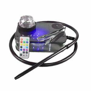 Moderne Acrylique Narguilé Portable Kit Complet Shisha Narguilé Smoking Pipe À Avec Led Light Box ()