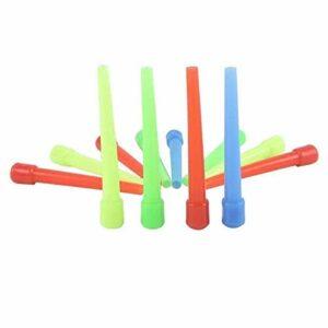 NUOLANDE Conseils À La Bouche Mi-Taille Jetable Shisha Shisha Hygiène Hygiène D'embouchures Colorées pour Tuyau d'eau Shisha Hookah Tips Bouche 94.5Mm / (100)
