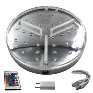 Shisha King® Grand support LED – Éclairage pour narguilé – 16 couleurs avec télécommande – Batterie intégrée – 7 heures d'autonomie