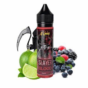 Slayer blood 50ml – O'juicy – Sans tabac ni nicotine – Vente interdite aux personnes âgées au de moins de 18 ans – 0 MG – Genre : 40-70 ml