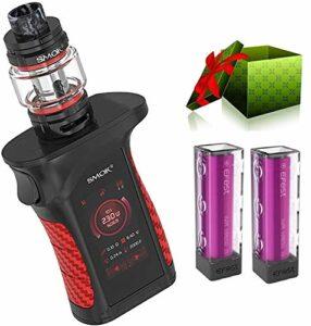 SMOK Mag P3 Kit 230W avec réservoir TFV16 d'une capacité de 9ml alimenté par deux cellules 18650 et une bobine de maille conique IP67 Mod Kit Vape étanche à l'eau – Pas de nicotine(noir)