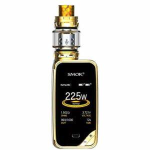 Smok X-Priv 225W Cigarette électronique Kit Complet Débutant Vapoteuse TC Vape Box Mod Plein Écran Avec Réservoir TFV12 Prince Tank 0.4ohm Résistance Sans Nicotine Ni Tabac (Prisme Or)