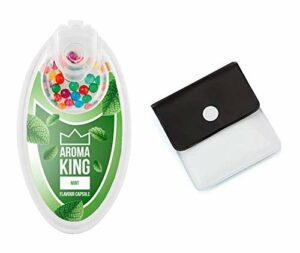 SweedZ Aroma Capsules Menthe / Perles pour Cigarette + Cendrier de Poche – 100 Boules