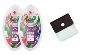 SweedZ Lot de 200 capsules aromatiques pour cigarettes + cendrier de poche