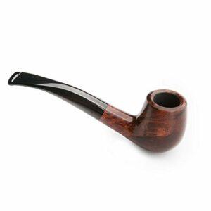 SXDHOCDZ Tabac à Tabac à la Main Classique Style Bend Hommes Vintage Briar Bois Accessoires de Pipe à Fumer (Color : B)