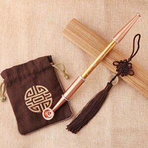 Tuyau de Tabac de Tabac en métal de Style Chinois Tuyau de Tabac de Style Chinois avec Sac à Tabac Pendentif pour Accessoires Fumeurs Erliao (Color : 2)