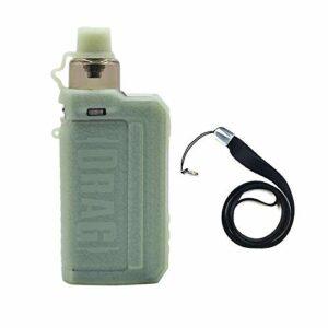 Voopoo Drag Max Kit étui de dispositif étui de protection pour cigarette électronique étui en silicone couverture bouclier peau , avec lanière (Luminous green)