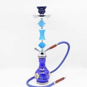 WJMT 55cm Premium Bookah Ensemble Complet avec tuyaux de Bol de Tuyau de Silicone, Tuyau d'eau en Verre Shanha Hookah (Color : Blue)