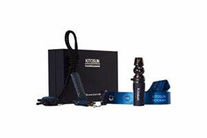 Afoosoo Kit de pointes de narguilé de luxe pour chicha – Embout universel artistique avec bracelet en cuir élégant – Bande VIP exclusive – Démarquez-vous de la narguilé Narguile Crowd (Niello)
