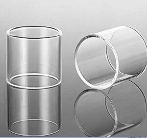 Denghui-ec 2pcs Remplacement Clear Pyrex Tube Glasse DISTABLE pour Berserker MTL RTA 4ML 24MM