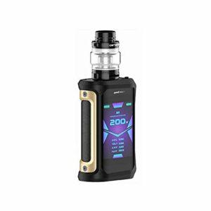 Electronic cigarette Vape Geekvape Aegis X Kit 200w box mod 5.5ml Cerberus tank waterproof vapor E cigarette Kit Black gold