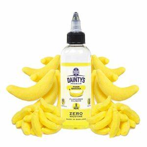E-Liquid FOAM BANANA DAINTYS | 80ML TPD | ECO VAPE | Sans Nicotine NI TABAC | E-Liquide pour Cigarettes Electroniques – E Vaper Liquids 50VG/50PG