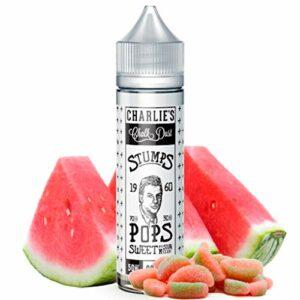 E-Liquid POPS SWEET & SOUR MELON | 50ML TPD | STUMPS – CHARLIES CHALK DUST | Sans Nicotine NI TABAC | E-Liquide pour Cigarettes Electroniques – E Vaper Liquids 70VG/30PG