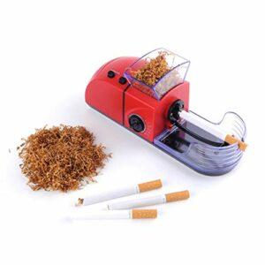 LYEC3 Machine à Rouler Les Cigarettes électrique Mini Machine de Remplissage de Cigarettes Injecteur de Rouleau de Tabac Machine de Remplissage de Cigarettes Outils à Fumer (Color : Red)