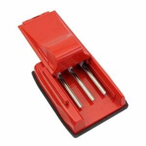 Machine à rouler les cigarettes, machine de remplissage manuelle de tube de fabricant de tabac de tube de rouleau de cigarette à trois tubes – Injecteur / remplisseur de tabac à rouler ( Color : Red )