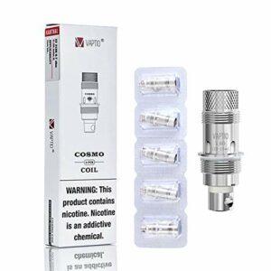 5PCS Evaporateurs Original Vaptio Cosmo Coil Résistance1.6ohm Pas de liquide E sans nicotine (COSMO C1 Coil)