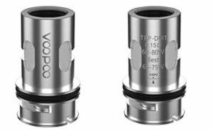 Bobine d'origine Voopoo TPP DM1 0.15ohm / DM2 0.2ohm tête de bobine pour Drag 3 & Drag X Plus Kit et réservoir de dosette TPP
