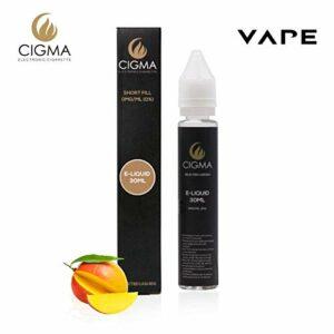 Cigma 30ml Mangue Smoothie 0mg E-liquide – Bouteilles Shortfill sans nicotine – 50/50 PG/VG – Forte saveurs réelles – Eliquide Pour E-shisha et E-cigarettes