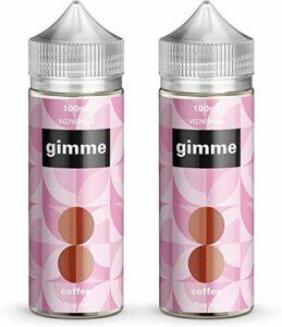 Double Pack – 100ml Café E-liquide, 70/30, Vape Juice, Sans nicotine ni tabac, Bouteille 120ml (Gimme E-Liquid)